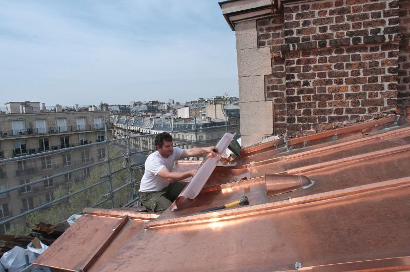Notre savoir-faire en rénovation de couverture en cuivre ...
